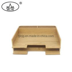 Arquivo de tabela de madeira para escritórios papel A4 na bandeja de armazenamento de documentos