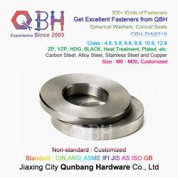 Qbh personalizzato DIN 6319 DIN6319 SS304 SS316 acciaio inox / Concavo sferico e guarnizione convessa con superficie sferica in acciaio al carbonio nero