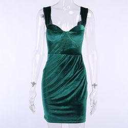 Reizvolle Taillen-Kleid-Brust-Auflage-entfernbares Hip Kleid-Partei-Kleid