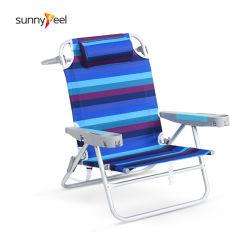 A posição 5 cadeira dobrável com alumínio fita cadeira de praia
