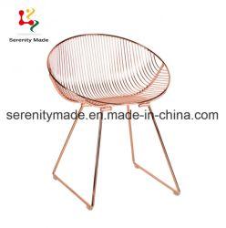 Contemparoryの鉄骨フレームの金属線の椅子の食堂