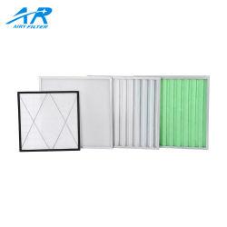 El volumen de aire Panel plegado lavable el filtro de aire Filtro de aire con fibra sintética