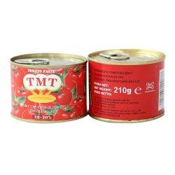 La pasta de tomate en conserva 210g Brix 18-20% de la salsa de tomate baratos