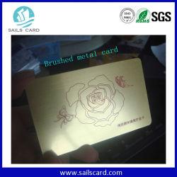 Golden/fundo prateado negócios plástico Cartão com tarja magnética