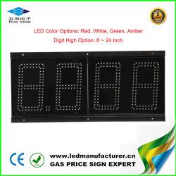 Format 8.888 12 pouces LED signe de prix de la station de gaz d'administration