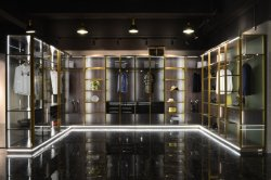 L'aluminium de luxe Walk-in closet/Penderie avec éclairage LED pour villa et appartement Large-Size