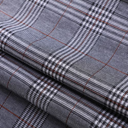 Textil de poliéster Hot-Selling Yigao Houndstooth Spandex tejido Jacquard Plaid para mujer ropa