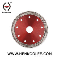 La prensa caliente fábrica Turbo-Mesh sinterizado de diamantes de la hoja la hoja de sierra de corte de vidrio de porcelana de mosaico granito