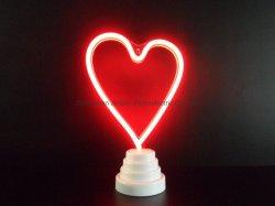 Décoration de Noël d'éclairage LED Lampes de table de l'amour enseigne au néon