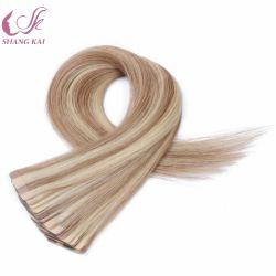 Hochwertiger voller Europäer-Haar-Band-Haar-Extensions-Haut-Einschlagfaden der Häutchen-100%