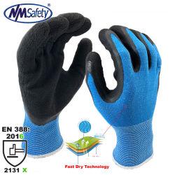 Handschoen van het Werk van het Comfort van de Verkoop van de Supermarkt van het Latex van het Schuim van Nmsafety de Coolpass Met een laag bedekte Snelle Droge Hete Ultra