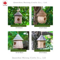 Artesanías en resina de OEM de aves de jardín nido colgante Decoracion regalos