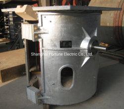 من نوع الهيكل المصنوع من الألومنيوم 100 كجم إلى 3 أطنان من الفولاذ المقاوم للصدأ فرن الحث الكهربائي المنبوذي بالكي المصبوب