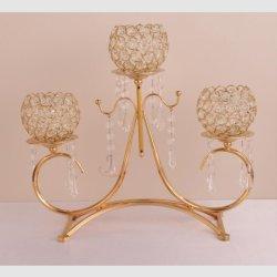 3 bras de l'Acrylique Crystal Tea Light Bougeoir candélabre pour mariage