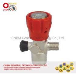 Regolatore di pressione cilindro in fibra di carbonio composito, rosso, manometro per Serbatoio subacqueo SCBA e valvola del serbatoio PCP