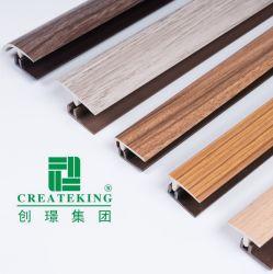 Охраны окружающей среды UPVC носимые Wood-Coated Пол профили пол аксессуары