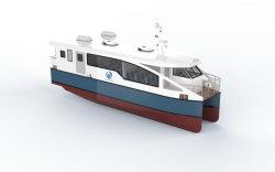 Catamarã de alumínio 48 lugares 15m Water Taxi Navio de passageiros de ferry-boat
