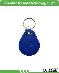 Precio barato 1K de memoria 13.56MHz RFID programable Mf etiqueta clave 13.56MHz Llavero RFID IC