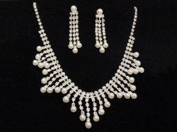 De in het groot Reusachtige Diamanten van de Reeksen van de Juwelen van de Halsband van de Tegenhanger van de Luxe van de Prijs van de Fabriek van de Leverancier van China Met de hand gemaakte Bruids Parel Geketende voor Belangrijke Gelegenheden