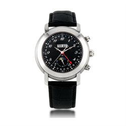 Automatische mechanische 5ATM imprägniern Abnehmer besitzen Firmenzeichen-Geschäftsmann-Uhr (JY-ST008)