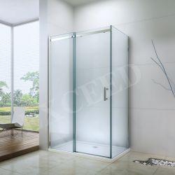 목욕탕 고전적인 큰 롤러 유리제 샤워 오두막 장방형 모양 (EX-806A)를 가진 유리제 미닫이 문 유리제 샤워 문 샤워 울안