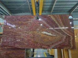 Pierres naturelles Ruby Jade Onyx rouge pour l'intérieur de dalles de plancher de carreaux de paroi