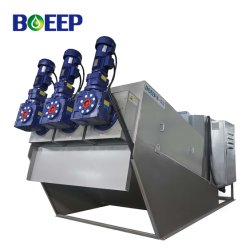 ISO/SGS/Ce 산업 폐기물 물 처리를 위한 자동적인 나사 진창 탈수 기계