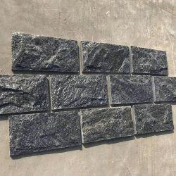 블랙 슬레이트 버섯 타일 석벽 외관 버섯벽 스톤 벽면 패널 클래딩 및 벽면 코너의 경우