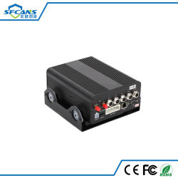 Vehículo de disco duro de 4G 4CH H. 264 GPS para coche DVR