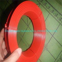 Зеленый цвет ПВХ покрытие оцинкованной стальной проволоки производителя