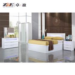 Mobiliário de Guangdong Hotel moderno quarto de madeira com luzes LED