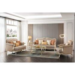 Foshan moderno Europa Mobiliario de madera 3 videntes Blazer Living Habitación Sofá