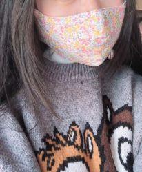 Virusbescherming bedrukte gezichtsmasker masker katoen masker hals stofhoes Zijden masker