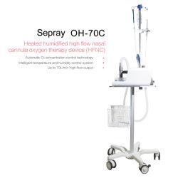 В НАЛИЧИИ НА СКЛАДЕ Hfnc Неинвазивная больницы удлиненный ICU с высоким расходом назальную канюлю кислородного терапии машины Oh-70c Ce сертификат ISO