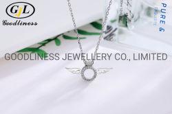 925 فضة جناح الملاك الاسترليني قلادة مجوهرات الأزياء
