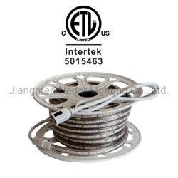 Ourdoor/Indoor el voltaje de línea (120V) Diseño vinculables 2835-120LED/M de la luz de cuerda flexible de LED integrado