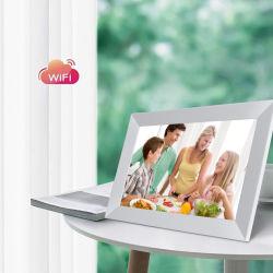 Venda quente LCD de liberação do porta-retratos digital Madeira Eletrônico WiFi Moldura Fotográfica Frameo Remote