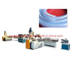 خرطوم طرد من مادة PVC ناعم 6-50 مم ماكينة متعددة الطبقات معززة بالألياف خرطوم مياه الحديقة المرن صناعة خط إنتاج الآلة