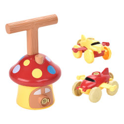 Neue Ankunft Großhandel Kinder Inertial Luft Power Ballon Flugzeug Auto Spielzeug Kindergarten Lehrmittel