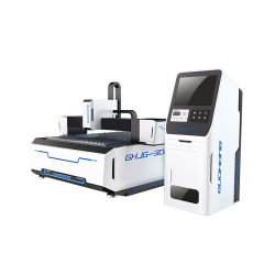 Fabbricare CNC Metal Fiber laser Cutter macchina da taglio 1kw/1.5W/2kw IPG Raycus Power per acciaio inox da 2,5 mm rame alluminio acciaio al carbonio