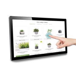 10 duim 21.5 Duim 55 Kiosk van de Vertoning van de Reclame HD 1080P van de Informatie van de Betaling van het Scherm van de Aanraking van de Duim de Volledige