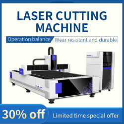 máquina de corte de fibra a laser Njwg chapa metálica do cortador a Laser com alta velocidade