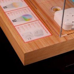 2020 de Aangepaste Duidelijke AcrylDozen van de Vertoning met Houten Basis