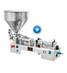Bespacker 믹서를 가진 반 자동 압축 공기를 넣은 액체 풀 물병 충전물 기계 호퍼