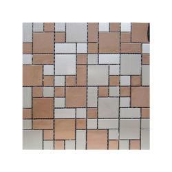 Produttore spessore 8mm Outdoor Luxury Art Pattern Hotel acciaio inox Sezione mosaico per piastra da costruzione