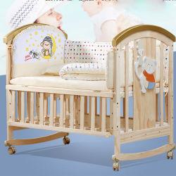 가변 목제 물자 좋은 품질 아기 수화기대 또는 나무로 되는 아기 침대 무대 디자인