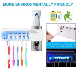 壁に取り付けられた紫外線歯ブラシのSanitizer、99%の消毒の歯ブラシの滅菌装置のホールダー