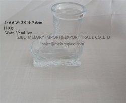 1oz de vidro transparente suporte para velas em forma de Inicialização