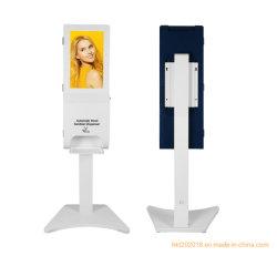 21,5 pouces lecteur numérique commerciale Hand Sanitizer Kiosque de désinfection de l'écran LCD du gouvernement