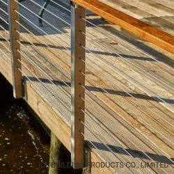 Ferro/Aço Inoxidável Corrimão de Cabo Designs com Corrimão de madeira para o sistema de auxílio ao estacionamento